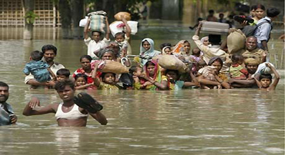 Picture of flood affected people