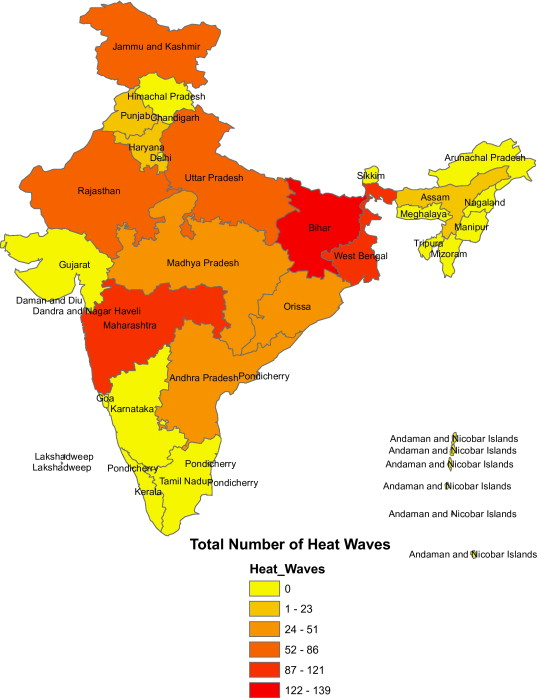 Picture of HeatWave Prone Areas of India