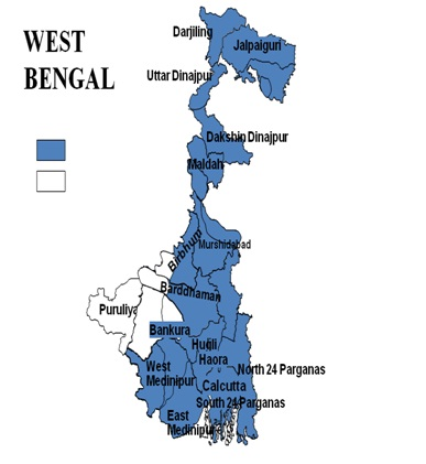Picture of Blue Areas depict Flood Affected Area